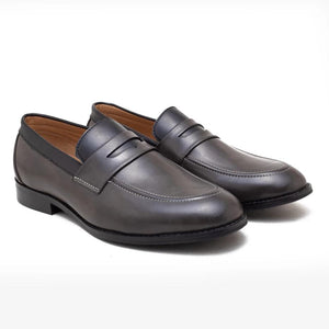 Urbino Penny Loafers - Grey/Black