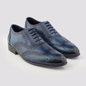 Patina + Art Oxford Lace-Ups - Blue