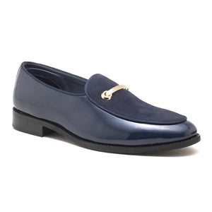 Como Patent Horsebit Loafers - Blue