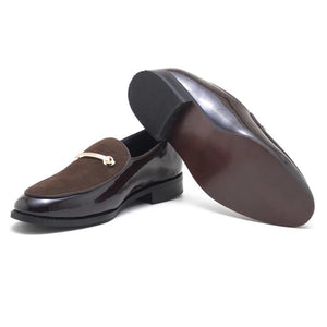 Como Patent Horsebit Loafers - Brown