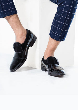 Ashley Button Shoe - Black/Black