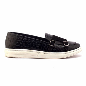 Krokodyl Double Monk Sneakers - Black