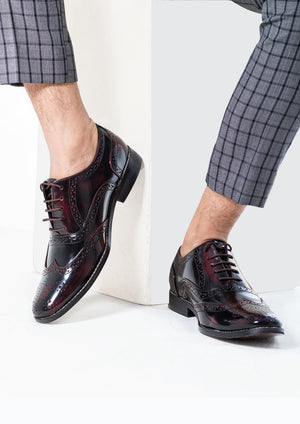 Wayne Oxford Brogues - Cherry