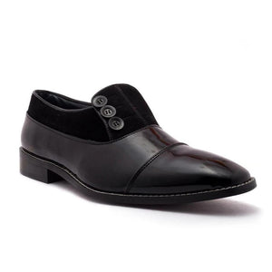 Shoes - Ashley Button Shoe - Black/Black