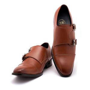 Shoes - Cayman Double Monk - Tan