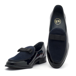Shoes - Delta Belgian Loafers - Black/Blue
