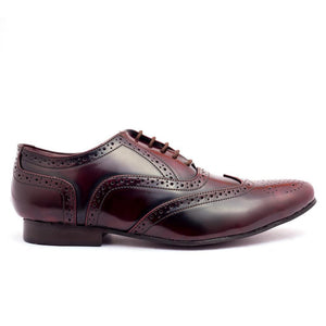 Shoes - Wayne Oxford Brogues - Cherry