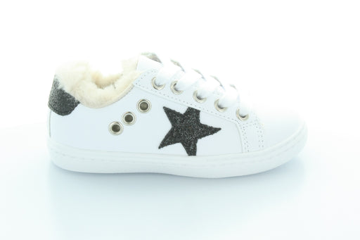 Ava's Star Fur Lace Sneaker-White