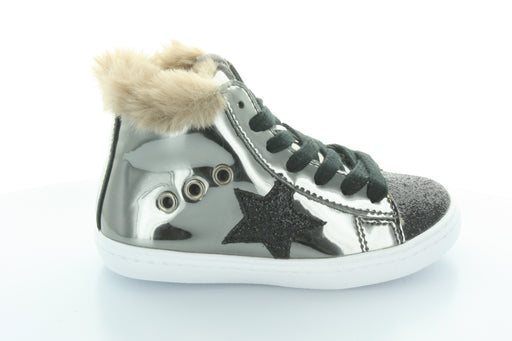 Fay's Fur Star Lace High Top-Pewter