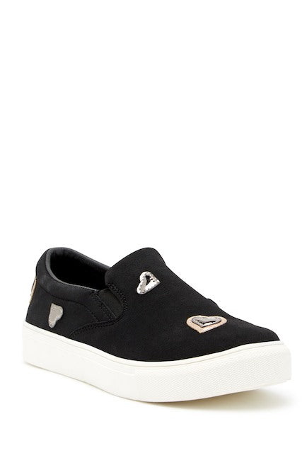 Hoova's Hearts Sneakers - Black