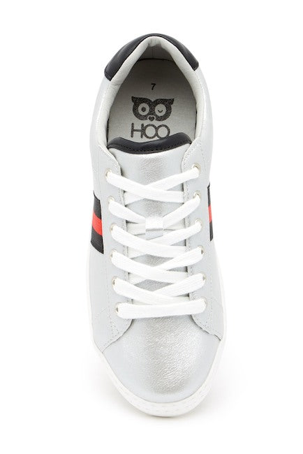 Hoova's Metallic Sneakers - Silver