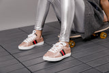 Hoova's Metallic Sneakers- Rose Gold