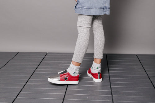 Chloe's Lace-less Sneakers - Burgundy