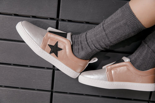 Chloe's Lace-less Sneakers - Rose Gold