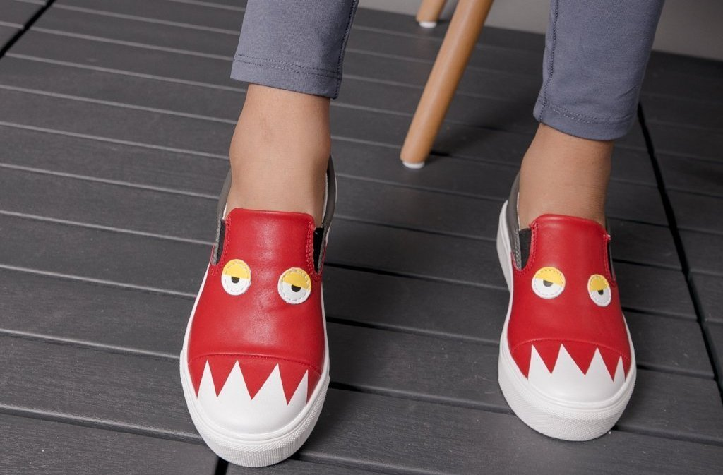 Charlie's Monster Sneakers - Red