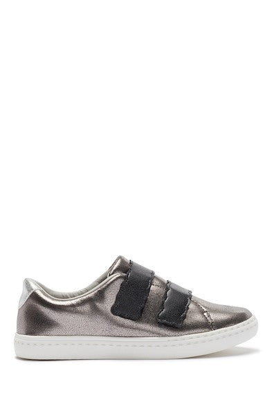 Scallop Double Velcro Sneaker - Pewter