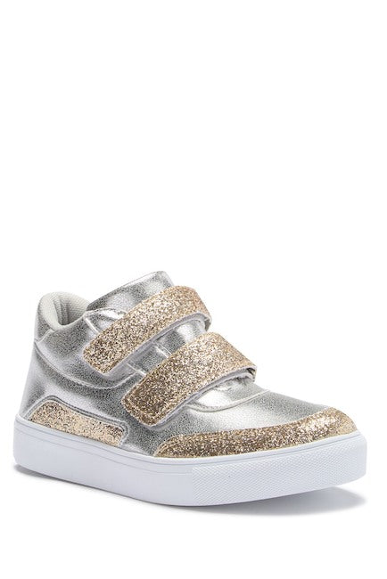Double Velcro High Top - Silver