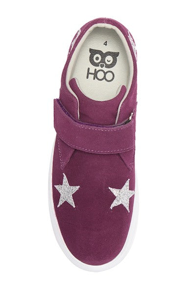Star Velcro High Top - Wine