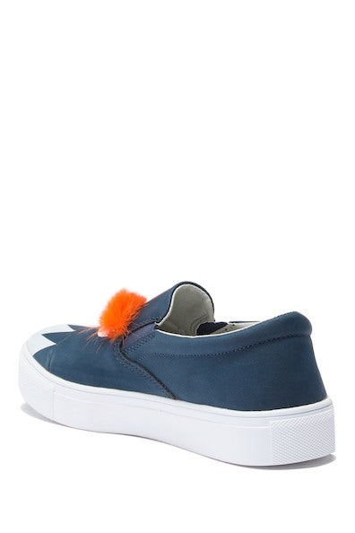 Monster Fur Slip-On Sneaker - Navy