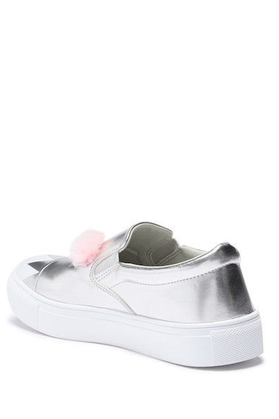 Monster Fur Slip-On Sneaker - Silver