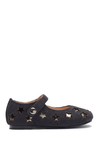 Star Mary Jane - Grey Suede / Pewter Stars