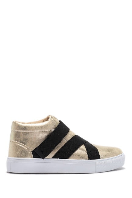 Elastic Criss Crosss High Top - Gold