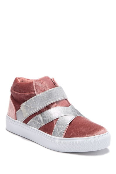 Elastic Criss Crosss High Top - Pink
