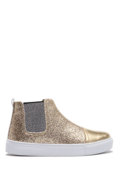 Double Gore Ankle Boot - Gold