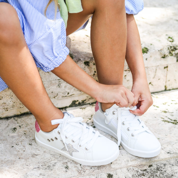 Mia Star Lace Sneaker - White