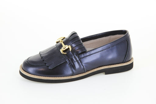 Mark's Chain/Fringe Loafer - Blue Metallic