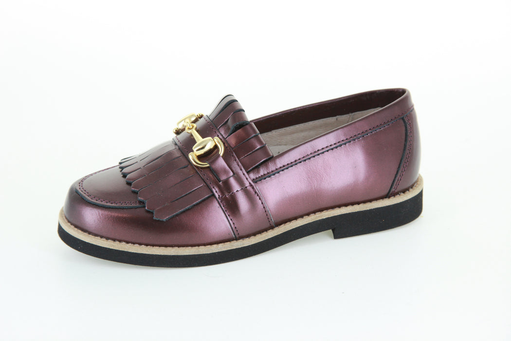 Mark's Chain/Fringe Loafer - Burgundy Metallic