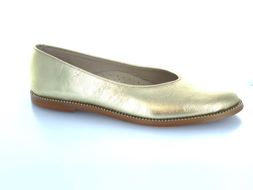 Dara's Pointed Ballet Slip-on  - Gold Metalic