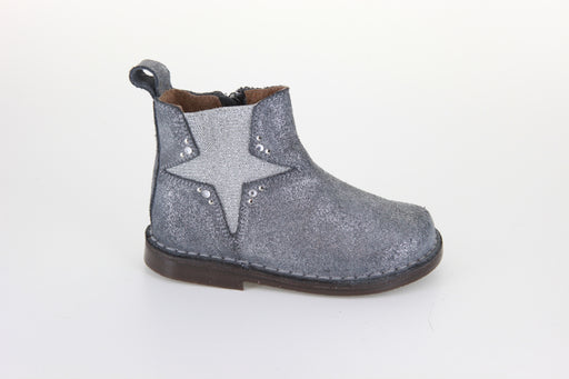 Dee's Elastic Star Boot - Grey Glitter