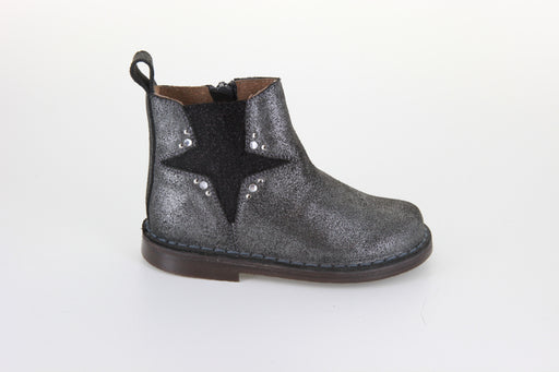 Dee's Elastic Star Boot - Black Glitter