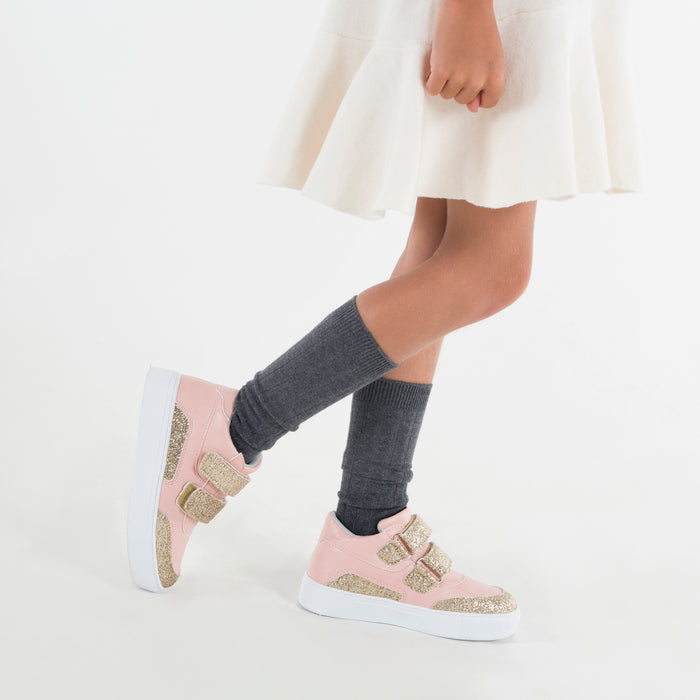 Double Velcro High Top - Pink