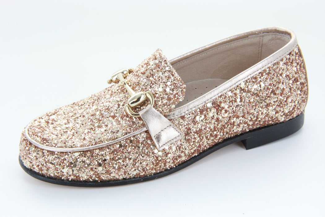 Alexa's Loafer - Gold Glitter