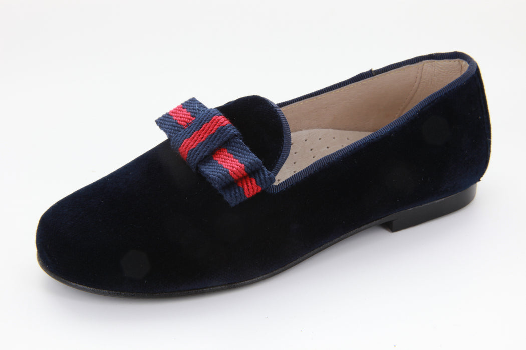 Sasha's Ribbon Loafer - Navy Velvet