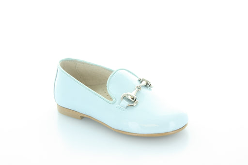 Abby's chain Smoking Shoe  - Light Blue Patent