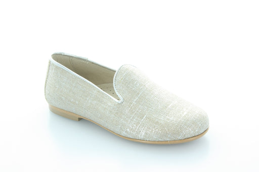 Jamie's Smoking Shoe  - Silver linen