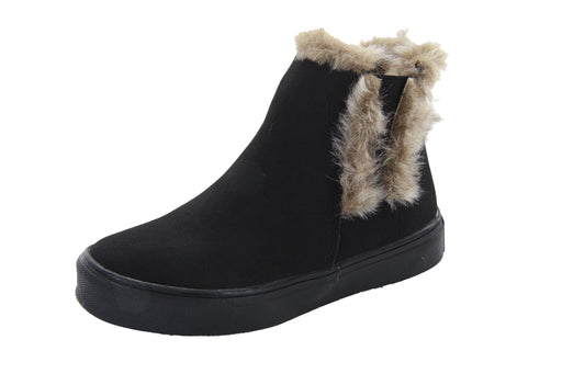 Chloe's Warm Fur Boot - Black
