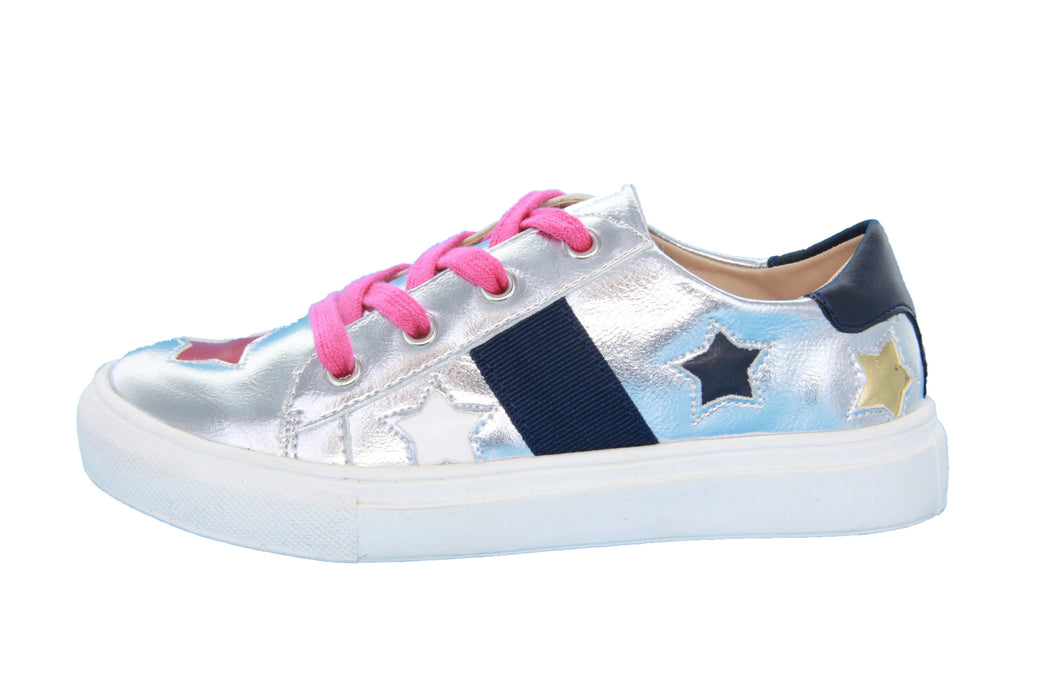 Dee's Stars Lace Sneakers- Silver