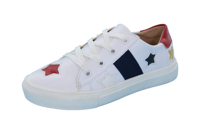 Dee's Stars Lace Sneakers - White