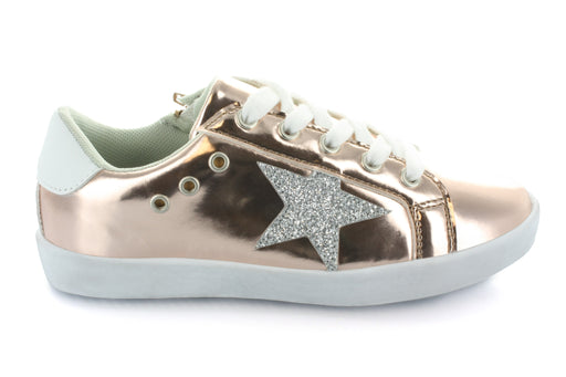 Mia Star Lace Sneaker - Rose Gold