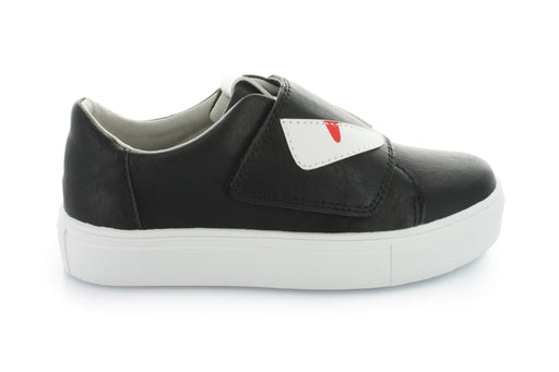 Ariel Monster Velcro Sneaker - Black