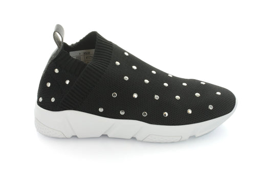 Jess Studded Knit Sneaker - Black