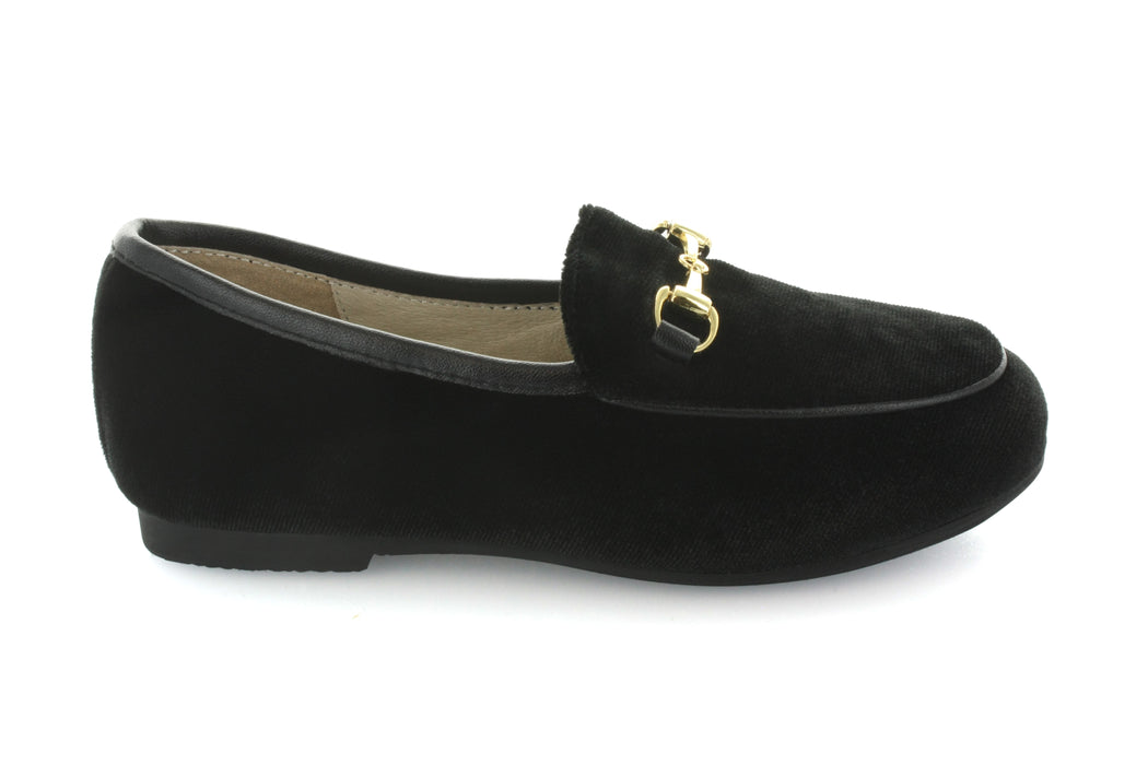 Maya's Chain Loafer - Black Velvet