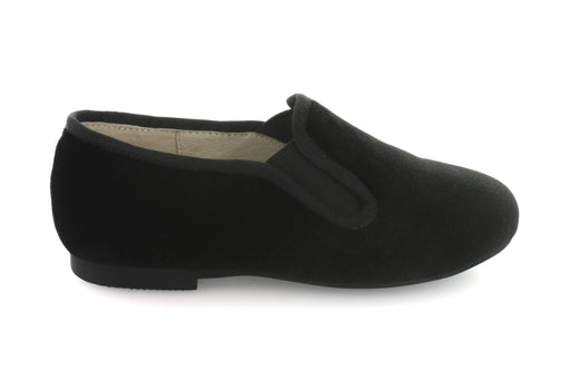 Charlottes Double Gore Smoking Flat - Black Velvet
