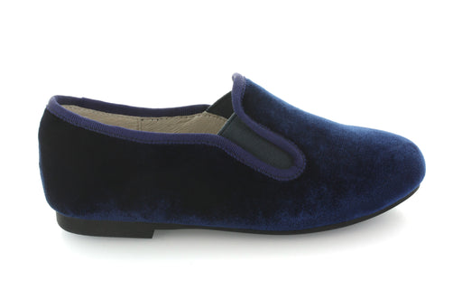 Charlottes Double Gore Smoking Flat - Navy Velvet