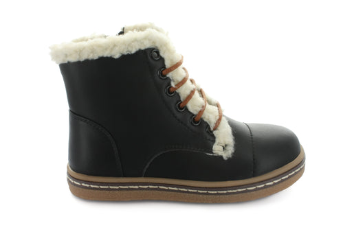 Aubrey's Fur Lace Boot - Black