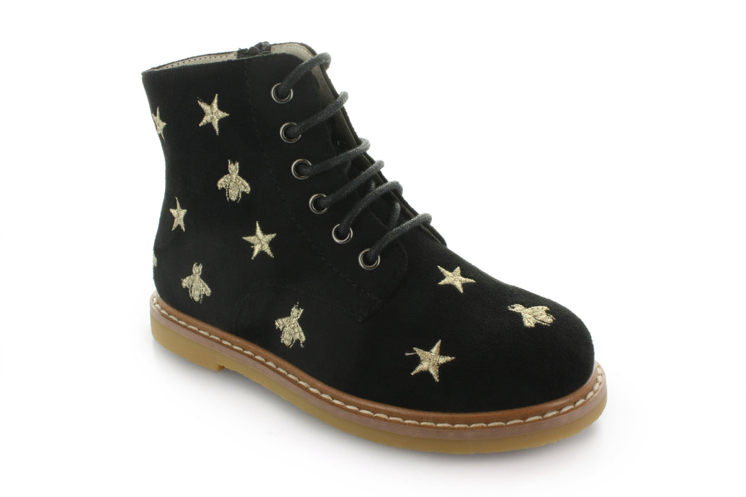 Junipers Star Lace Boot - Black
